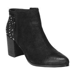 Women's Fergie Footwear Bless Ankle Boot Black Cow Suede