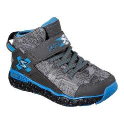 Boys' Skechers Skech X Cosmic Foam High Top Sneaker Charcoal/Blue