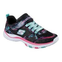Girls' Skechers Trainer Lite Sneaker Black/Multi