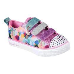 Girls' Skechers Twinkle Toes Shuffles Triple Ups Sneaker Multi