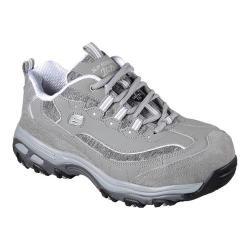Women's Skechers Work D'Lites SR Pooler Alloy Toe Work Shoe Gray