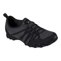 Women's Skechers Relaxed Fit Bikers Get With Knit Sneaker Black