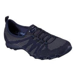 Women's Skechers Relaxed Fit Bikers Get With Knit Sneaker Navy