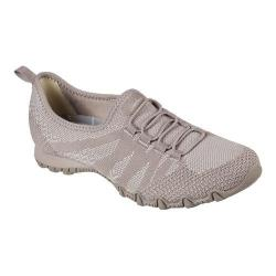 Women's Skechers Relaxed Fit Bikers Get With Knit Sneaker Taupe