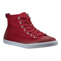 Men's Burnetie High Top Vintage Red Textile/Leather
