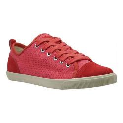 Women's Burnetie Ox Vintage Red Perforated Textile/Leather