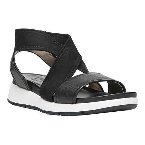 20111ad84673a8 Shop Women s Naturalizer Layla Sandal Black Leather Fabric - Free Shipping  Today - Overstock - 17174442