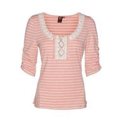 Women's Ojai Clothing Travel Striped Top Tea Rose