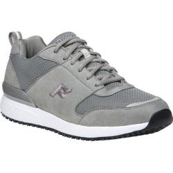 Men's Propet Simpson Walking Shoe Grey Mesh/Microfiber
