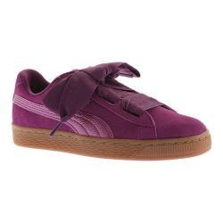 Girls' PUMA Suede Heart SNK Jr. Sneaker Dark Purple/Dark Purple