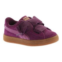 Girls' PUMA Suede Heart SNK PS Sneaker Dark Purple/Dark Purple