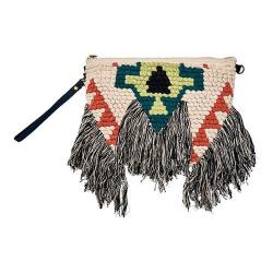Women's San Diego Hat Company Woven Clutch with Fringe BSB3543 Natural
