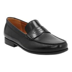 Men's Clarks Claude Lane Penny Loafer Black Cow Full Grain Leather