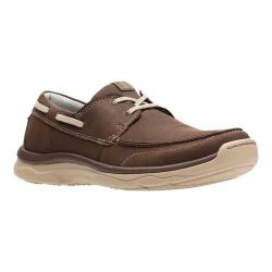 Men's Clarks Marus Edge Boat Shoe Brown Synthetic