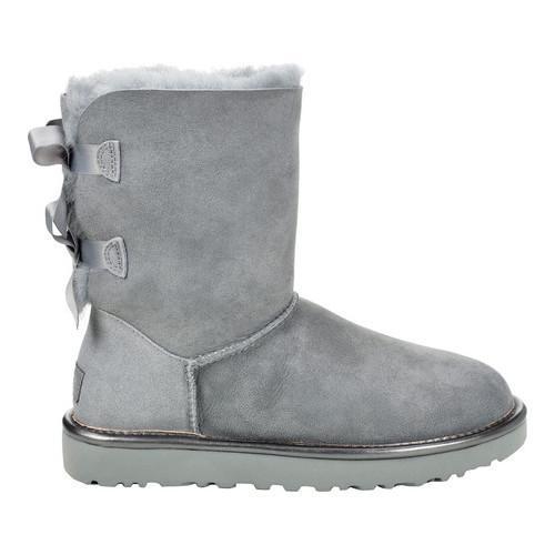 shop women s ugg bailey bow ii boot geyser metallic free shipping rh overstock com