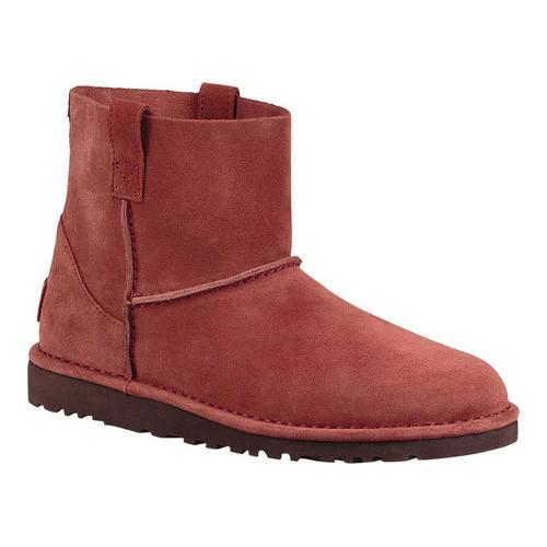 7c7182f129f Women's UGG Classic Unlined Mini Ankle Boot Red Clay Suede
