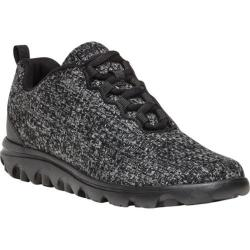 Women's Propet TravelActiv Woven Sneaker Dark Grey Mesh