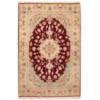 Handmade Herat Oriental Persian Hand-Knotted Fine Tabriz Wool Rug - 3'4 x 5' (Iran)