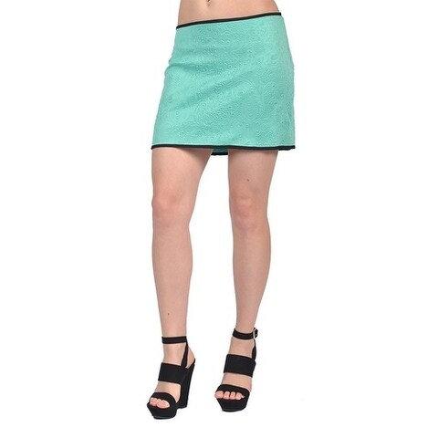 Tyche Women's Fashion Embossed Design Mini Skirts Mint