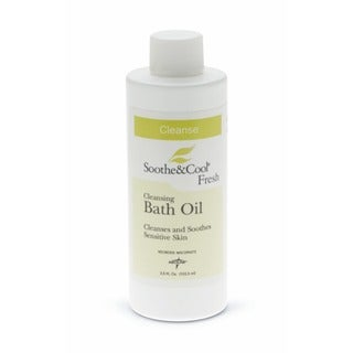 Medline Bath Oil Soothe & Cool, 3.5-ounce (Case of 96)