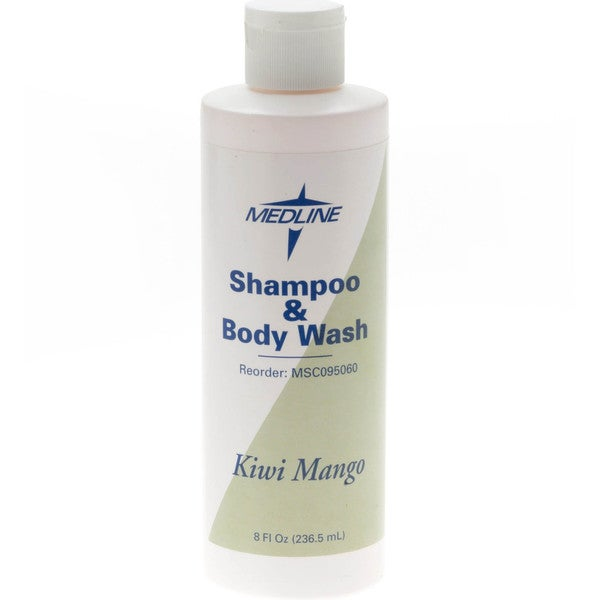 Medline Kiwimango 8-ounce Shampoo/Body Wash (Case of 48)
