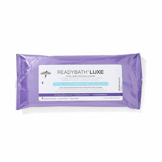 Medline ReadyBath LUXE Total Body Cleansing Heavyweight Washcloths Fragrance-Free (Case of 24)