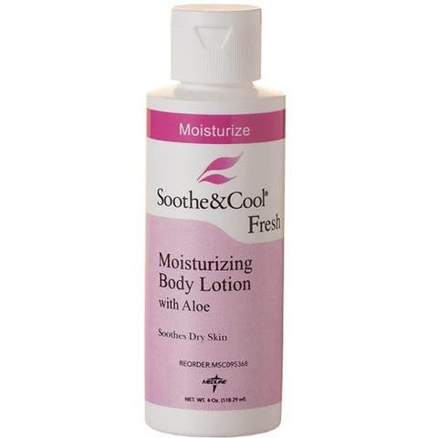 Medline Soothe & Cool Lotion 4-ounce (Case of 48)