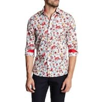Flower Printed Slim Fit Dress Shirt
