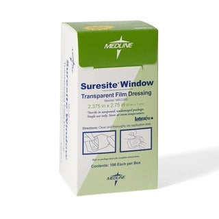 Medline Suresite Transparent Dressing 2.37-inch x 2.75-inch (Case of 100)