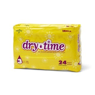 Medline Dry Time Size 3 Disposable Baby Diapers (Case of 192)