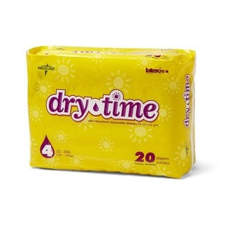 Medline Dry Time Size 4 Disposable Baby Diapers (Case of 160)