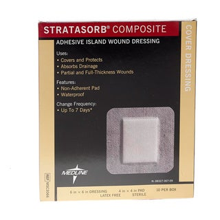 Medline Stratasorb Composite Island 6-inch x (Pack of 100)