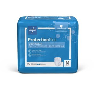 Medline Protection Plus Super Protective Adult Underwear Medium (Case of 80)