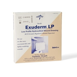 Medline F-Hydrocolloid Exuderm (Pack of 10)