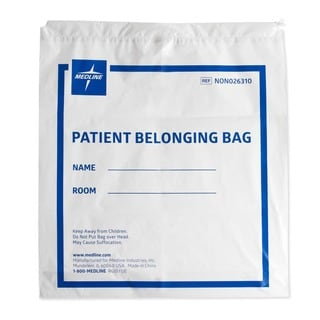 Medline Bag Belong Drwstrg Wht 18 inch x 20 inch (Case of 250)