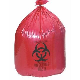 Medline Liner Red 24 inch x 24 1.2 mil 10 Gallon (Case of 500)