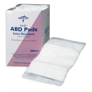 Medline Abdominal Pad 8 x 7.5-inch Non-Sterile (Pack of 576)