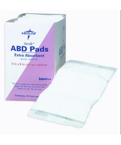 Medline Abdominal Pad 12-inch x 16-inch Non-Sterile (Pack of 144)