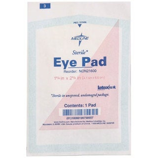 Medline Eye Pad Sterile Latex-free 1-5/8-inch x 2-5/8-inch (Pack of 600)