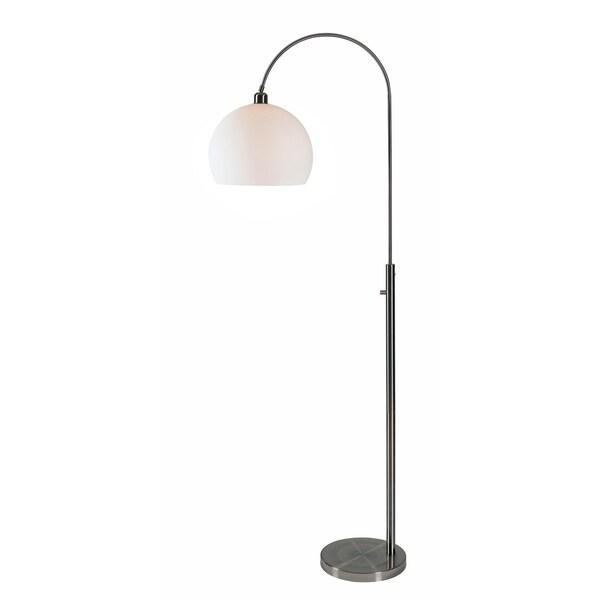 """Design Craft Eero Brushed Steel 72"""" Arc Floor Lamp"""