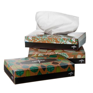 Medline Standard 7.5 inch x 6.5 inch Facial Tissue (case of 72)