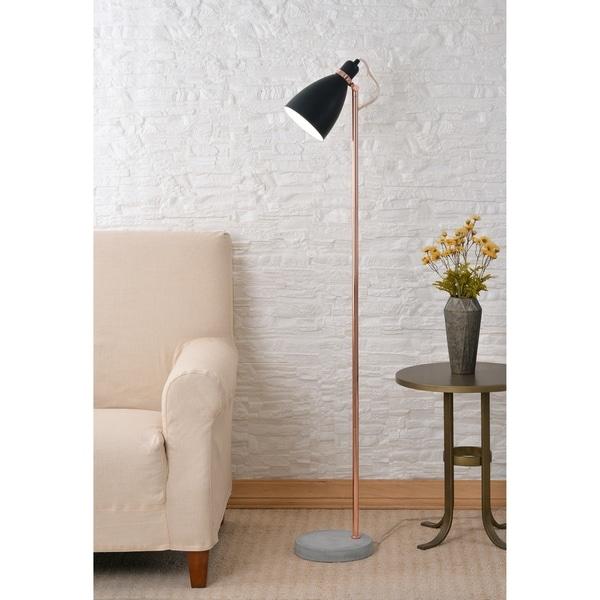 """Design Craft Lola Black and Copper 59"""" Floor Lamp"""
