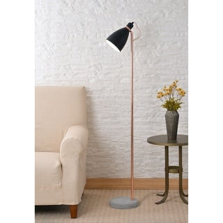 "Lola Black and Copper 59"" Floor Lamp"