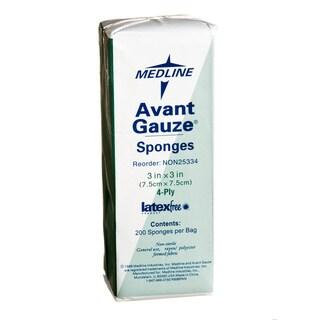 Medline Latex-free Non-Sterile 3 x 3-inch 4-ply Gauze Sponge (bulk of 4000)