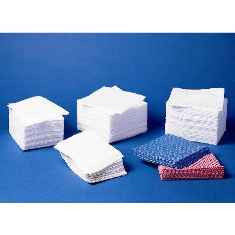 Medline Rayon Washcloths 12-inch x 13-inch Blue (Case of 500)