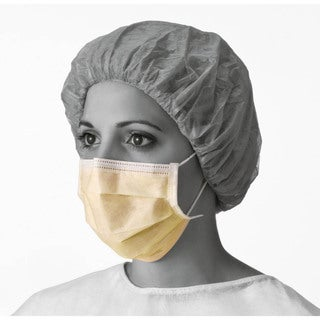 Medline Face Mask Yellow Latex Earloops (Pack of 300)