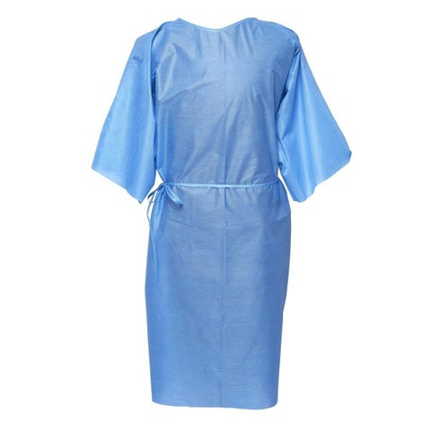 Medline Patient Gown SMS Blue Short Sleeve XL (Pack of 50)