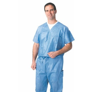 Medline Disposable Blue XXL Drawstring Scrub Pants (Case of 30)