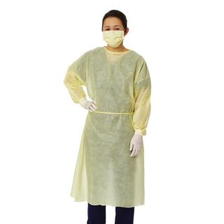 Medline Isolation Gown SMS Latex-free Yellow (Pack of 100)