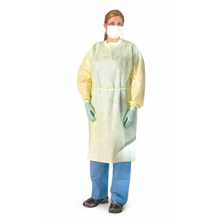 Medline Isolation Gown SMS Latex-free XL (Pack of 100)
